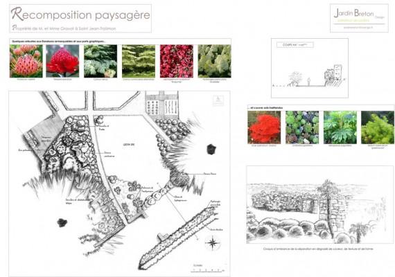 Alliance entre jardin régulier et style contemporain